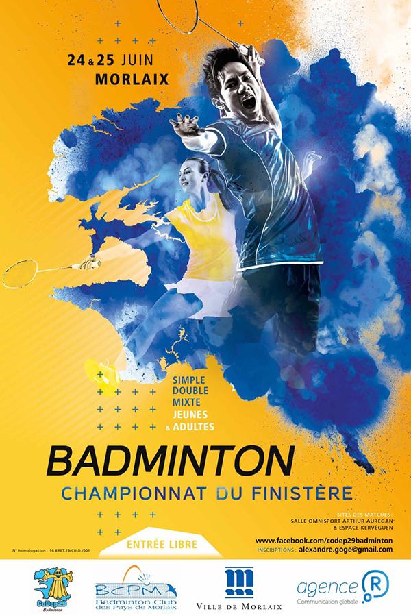 affiche championnat finistère badminton