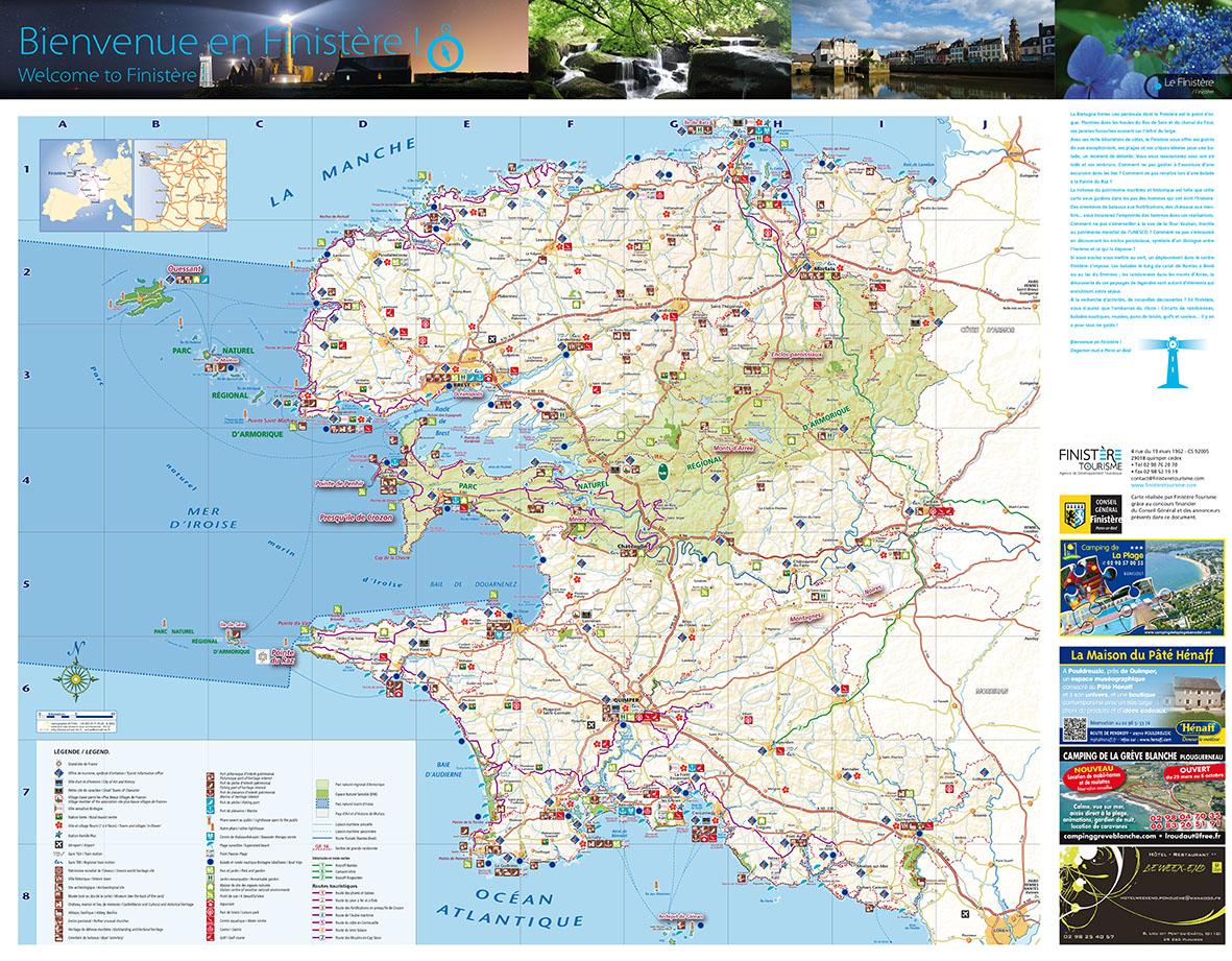 Infos sur carte touristique finistere arts et voyages for Carte touristique