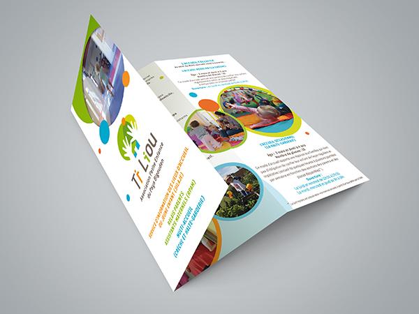Création graphique Dépliant présentation Association Ti Liou