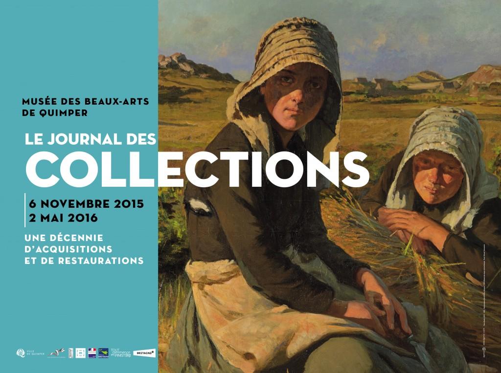 EXPOSITION LE JOURNAL DES COLLECTIONS - Affiche 8m2