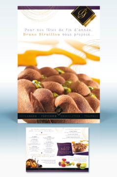 leaflet dessert de noël - création graphique Agence R