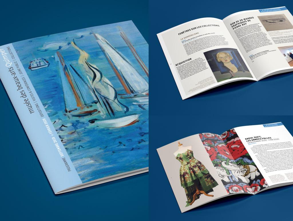 Création brochure Musée des beaux arts de Quimper