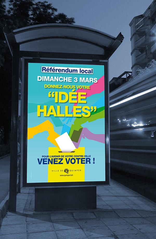 création campagne référendum quimper