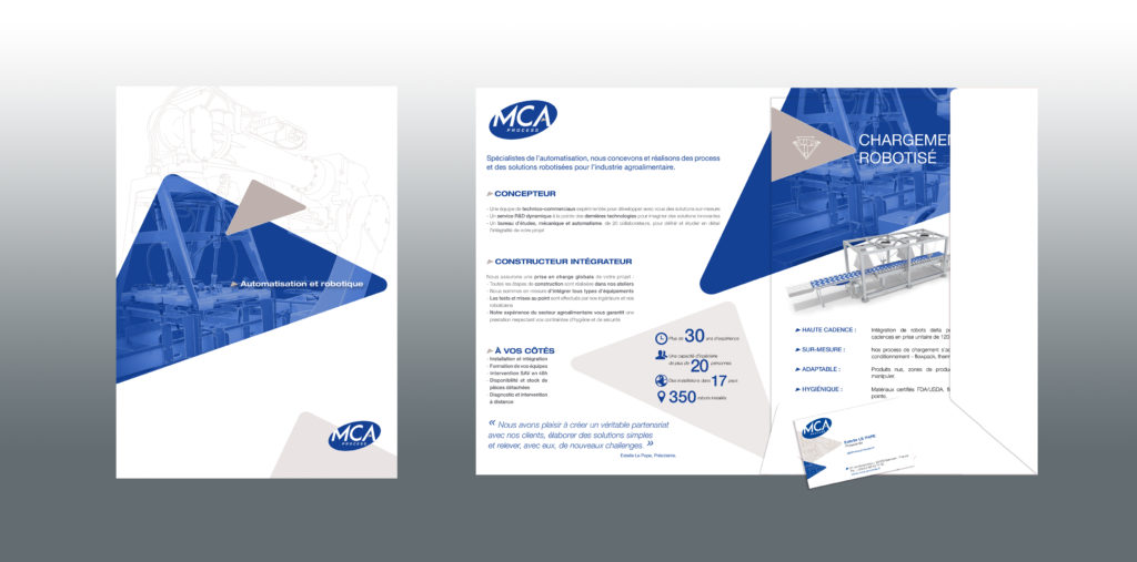Création graphique outils de communication par agence R à Quimper (chemise et fiches techniques)