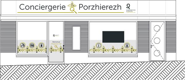 Création de l'habillage graphique la conciergerie à Quimper